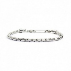 BRACCIALE LUCIDO CATENA OVAL BOX 4MM