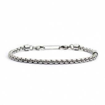 BRACCIALE LUCIDO CATENA BOX ROUNDED 4MM